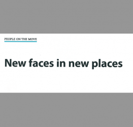 New faces in new places